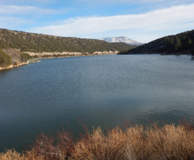 Nelson Reservoir is full and spilling.