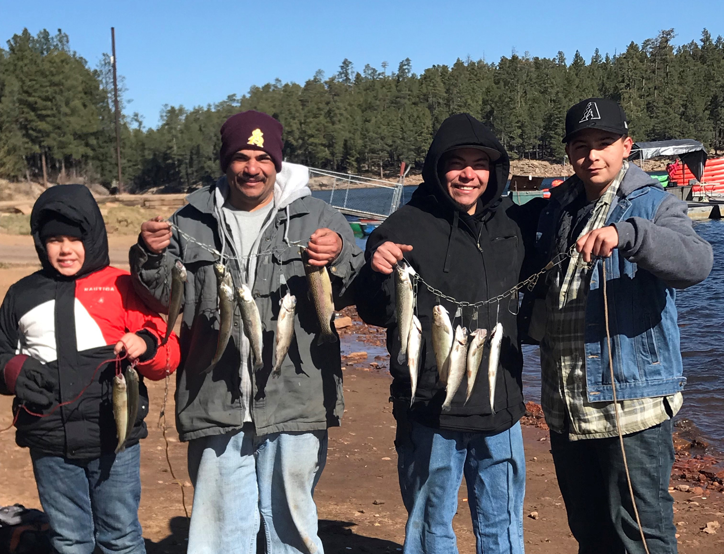 Angler report woods canyon lake fish az for Woods canyon lake fishing