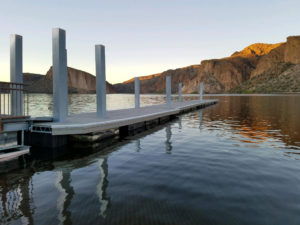 The new boat dock at the Canyon Lake Palo Verde Boat Ramp is larger and more convenient than its predecessor